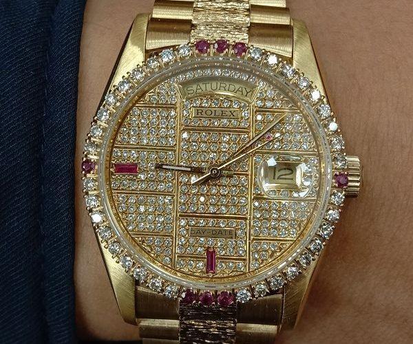 流當手錶拍賣 勞力士 18038 滿天星 鑽圈 K金 男錶 喜歡價可議 ZR470