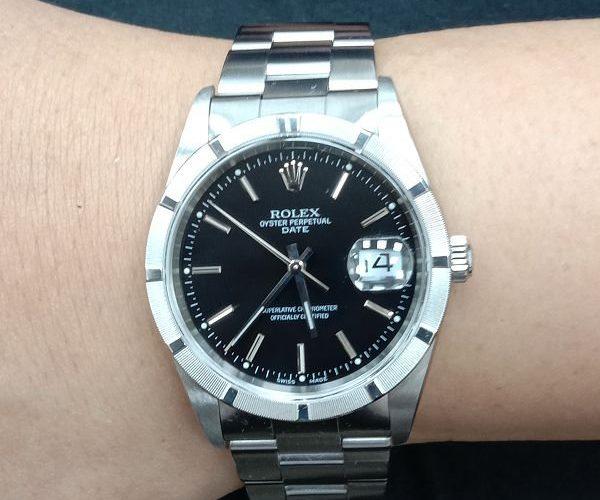 台中流當手錶拍賣 原裝 勞力士 15210 13劃 不鏽鋼 自動 男錶 9成9新 喜歡價可議 ZR466