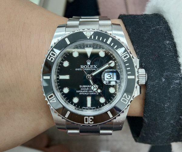 流當手錶拍賣 原裝 2018 勞力士 116610 黑水鬼 自動 男錶 9成9新 附盒單 喜歡價可議 ZR473