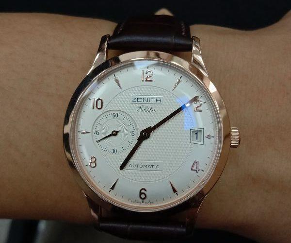 流當手錶拍賣 新款 ZENITH 先力 Elite 後簍空 18K玫瑰金 自動 男女錶 9成9新 喜歡價可議 ZR471