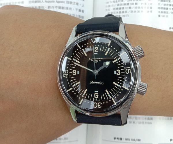 流當手錶拍賣 二手極新 原裝LONGINES 浪琴 不鏽鋼 自動 潛水錶 男錶 喜歡價可議 ZR508